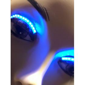 LED wimpers blauw, 3 knipper-effecten