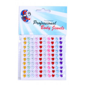 Body Jewels 14438 24 hartjes 6 mm assortie