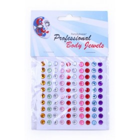 Body Jewels 14439 100 rondjes 6 mm assorti